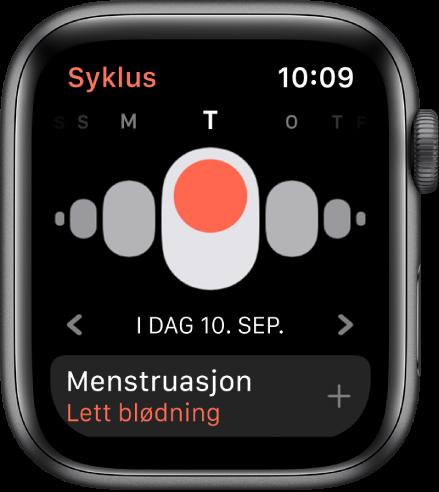 Syklus-skjermen.