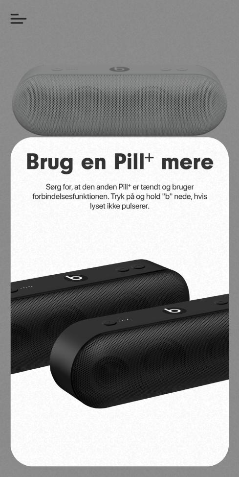 """Skærmen """"Brug en Pill+ mere"""""""