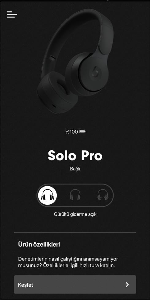 Solo Pro aygıt ekranı