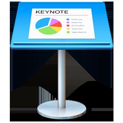 Het appsymbool van Keynote.