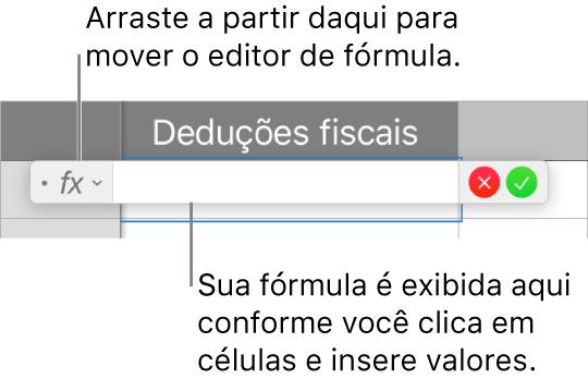 Editor de fórmula.