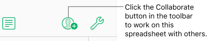 The Collaborate button in the toolbar.