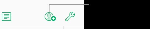 Le bouton Collaborer de la barre d'outils.