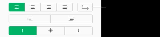 Bouton Direction du texte dans la barre latérale Format.