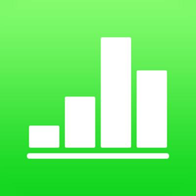 Numbers voor iCloud app-symbool.