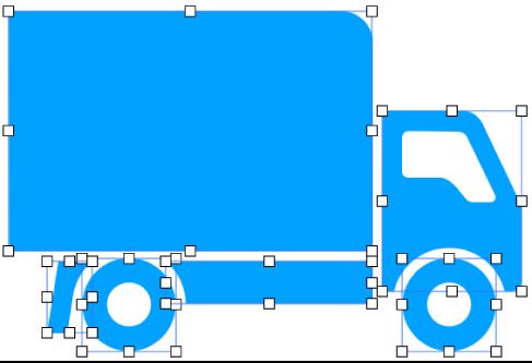 복합 도형은 복합 도형을 구성하는 도형들로 분리됩니다.
