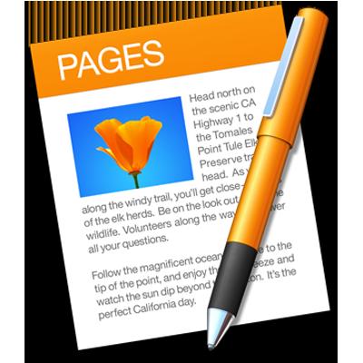 Het appsymbool van Pages.