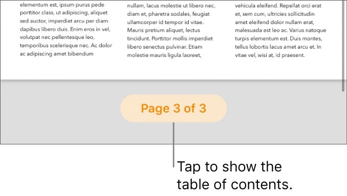 """An open document with the page count """"3 of 3"""" at the bottom center of the screen."""