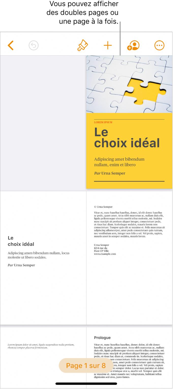 Un document dont les pages sont présentées sous forme de doubles pages.