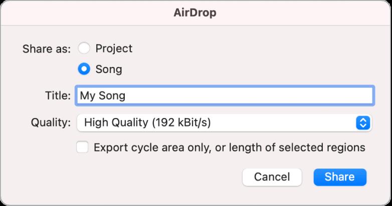 Dialog AirDrop.