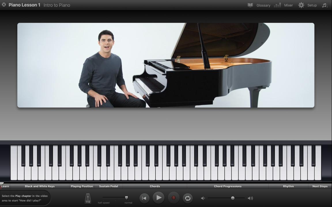 """Ansicht einer Übung """"Instrument lernen"""""""