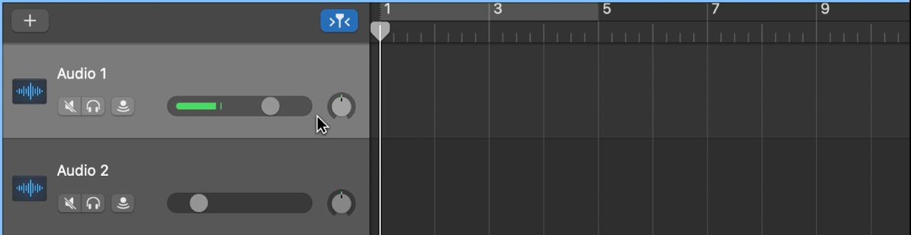 Επιλογή της κεφαλίδας ενός καναλιού ήχου.