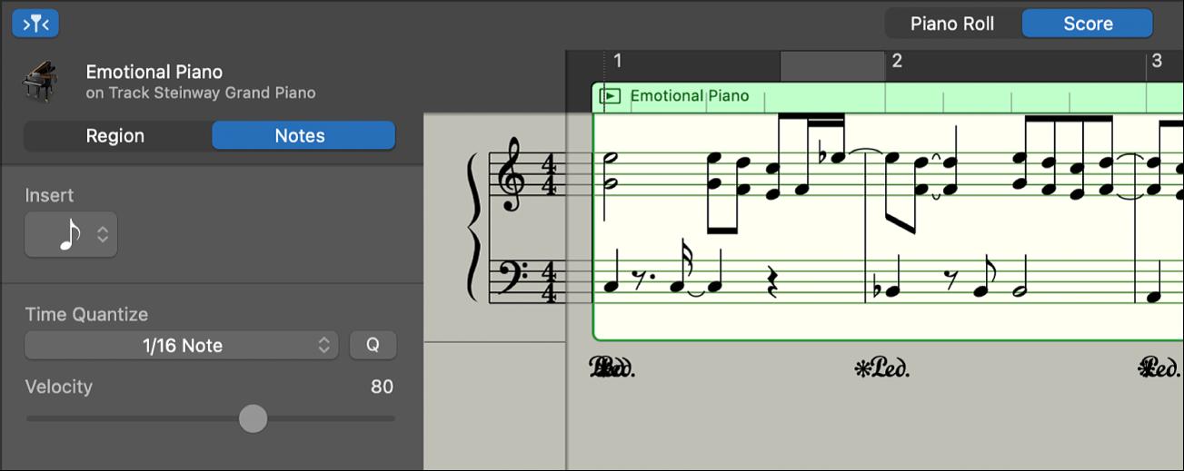 Score Editor showing notation.