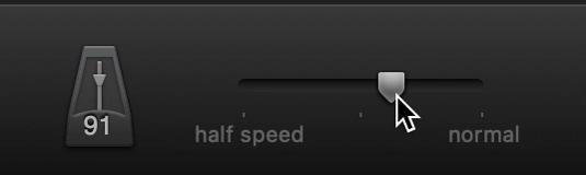 Speed slider.