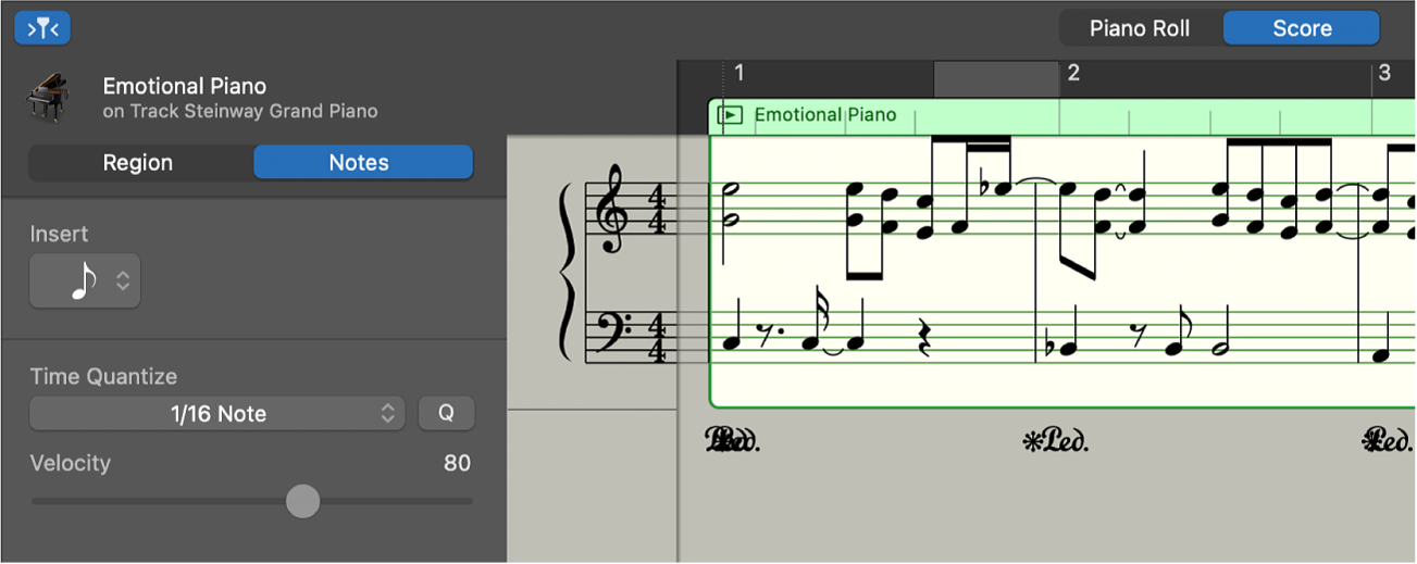 Score Editor showing notation.
