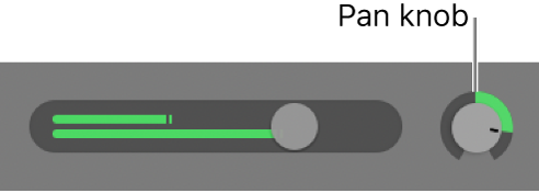 Track header showing Pan knob.