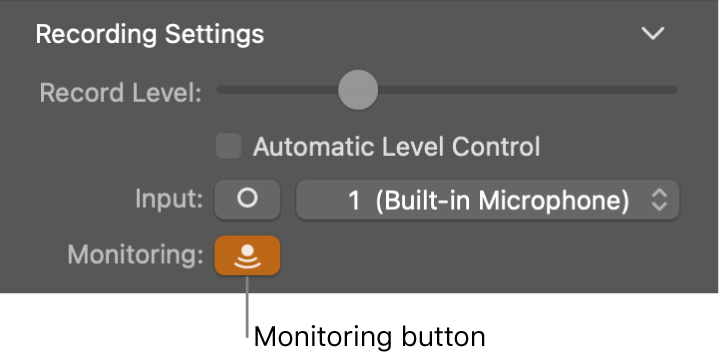 Input Monitoring button in the Smart Controls inspector.