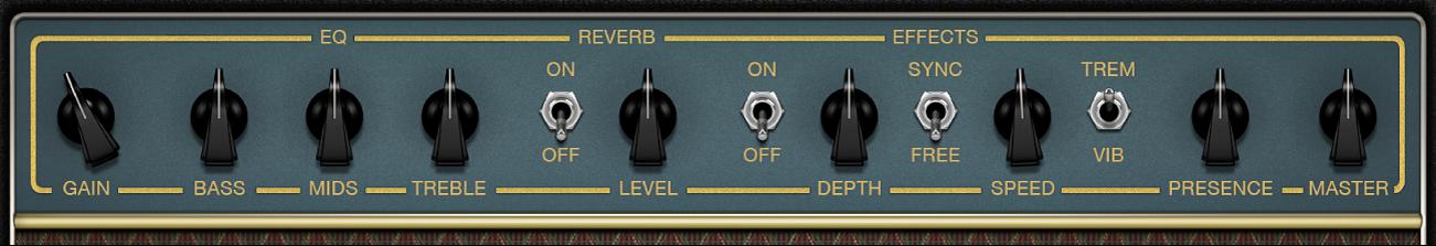 Amp Designer con los controles del amplificador.