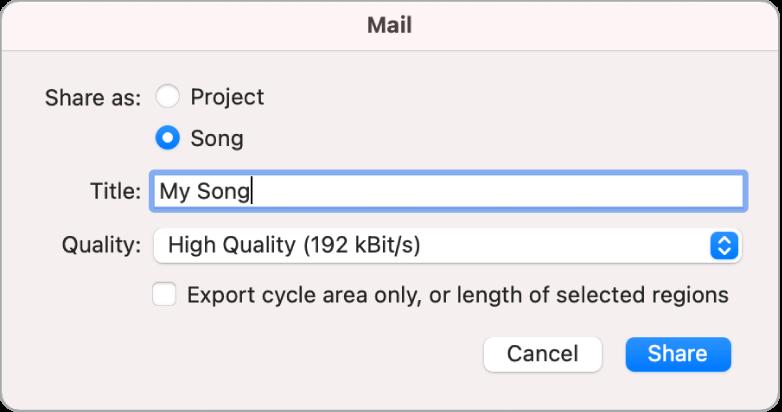 Cuadro de diálogo de MailDrop.