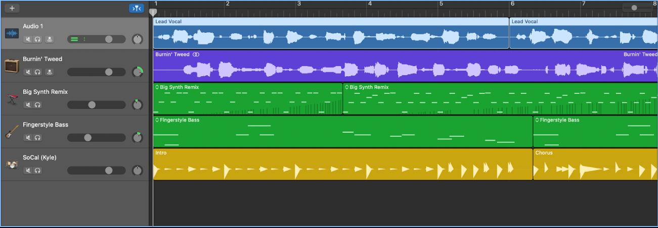 Zone Pistes affichant différents types de pistes
