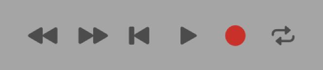 Boutons de transport avec le bouton Lecture sélectionné.