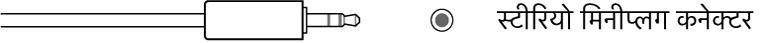स्टीरियो मिनीप्लग कनेक्टर का चित्रण।