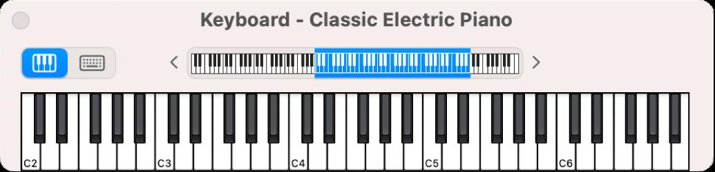 Ekranowy instrument klawiszowy
