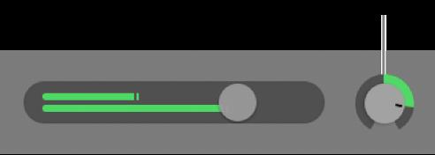 Hlavička stopy znázorňujúca gombík Panoráma.