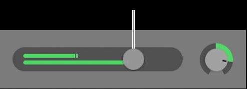 顯示「音量」滑桿的音軌標題。