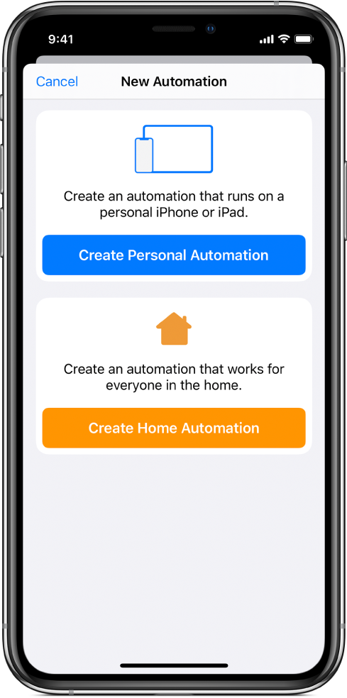 New automation when automation already exists in the Shortcuts app.