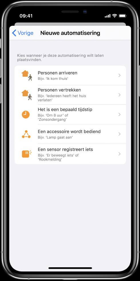 Woningautomatisering in de Opdrachten-app.
