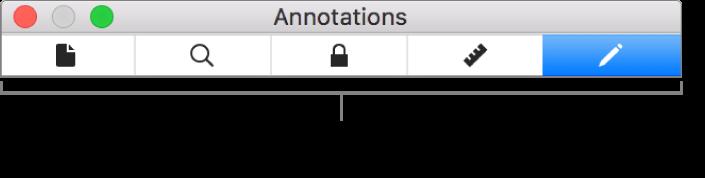 Sous-fenêtres de l'inspecteur de fichiers PDF.