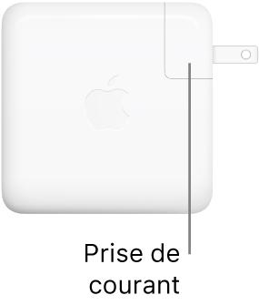 Adaptateur secteur USB-C 61W ou 96W.