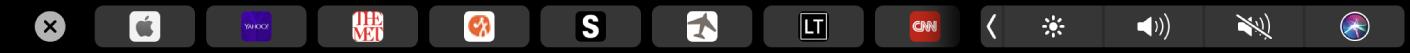 TouchBar deSafari affichant les pages favorites.