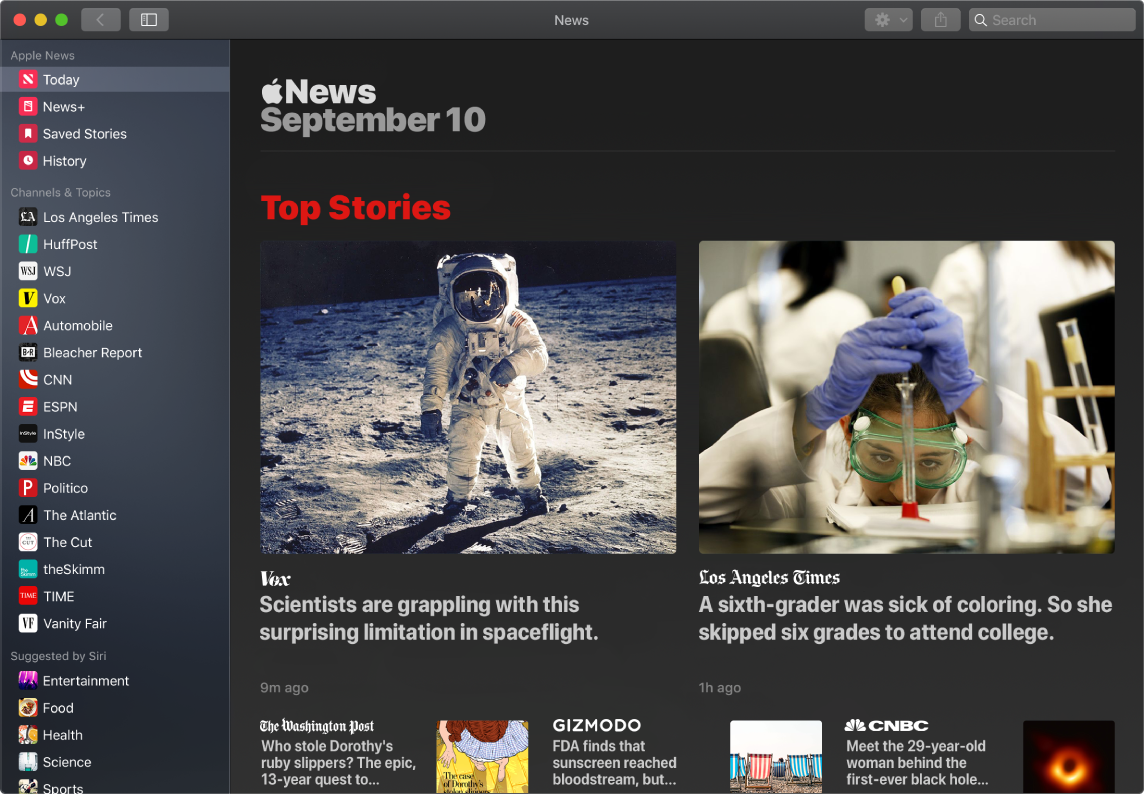 หน้าต่าง News ที่แสดงรายการหุ้นและเรื่องยอดนิยม