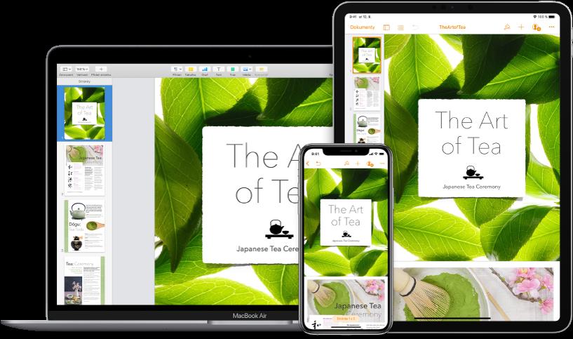 Obrázek znázorňující přístup kobsahu na iCloudu zrůzných zařízení