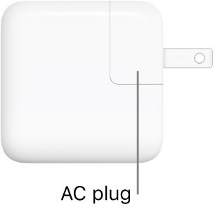 L'adaptateur secteur USB-C 30W.