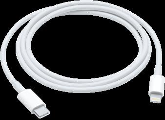 De USB-C-naar-Lightning-kabel.