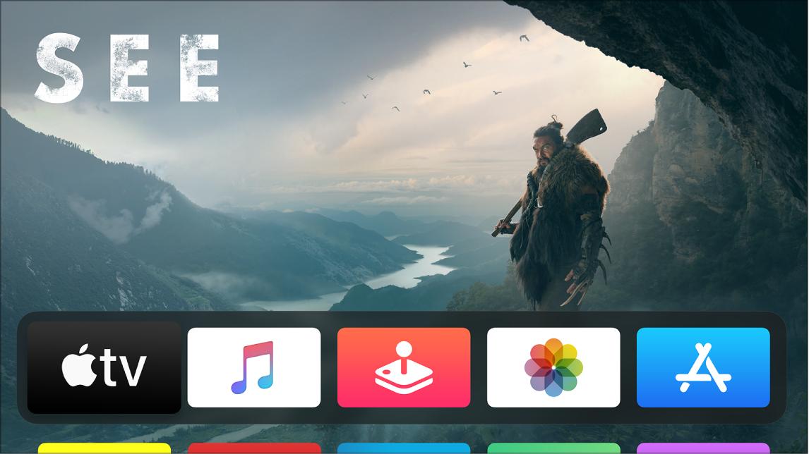 App AppleTV sur l'écran d'accueil