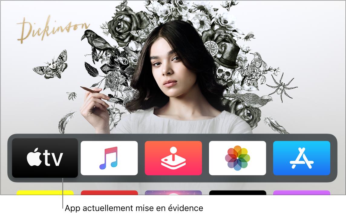Écran d'accueil de l'Apple TV