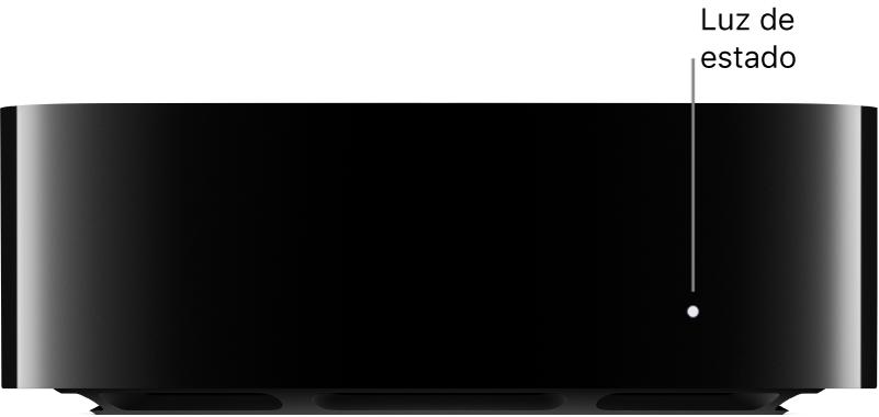 AppleTV con la luz de estado resaltada