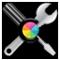 Symbool van ColorSync-hulpprogramma