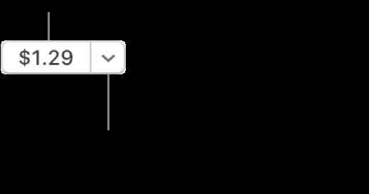 Un botón que indica un precio. Haz clic en el precio para comprar el elemento. Haz clic en la flecha junto al precio para dar el elemento como regalo a un amigo, ingresar el elemento a tu lista de deseos, y más.