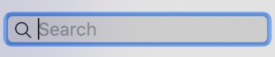 Pole wyszukiwania woknie aplikacji Muzyka.