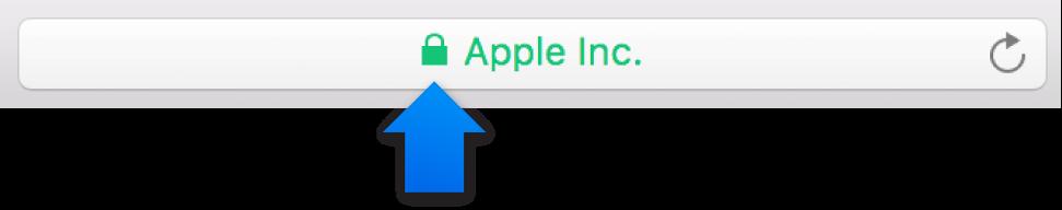 L'icône de chiffrement (un cadenas) pour un site avec un certificat de validation étendue.