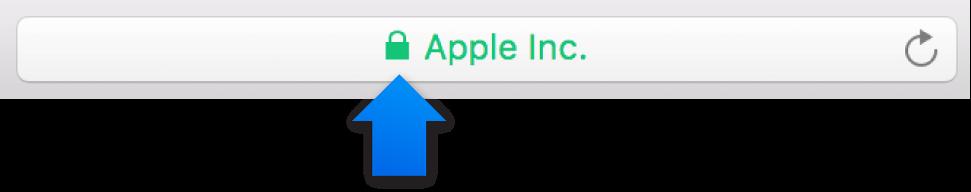 Іконка шифрування (виглядає як замок) для сайту з розширеним перевірочним сертифікатом.