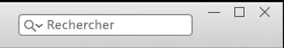 Le champ de recherche dans iTunes.