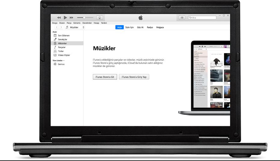 Yeni, boş bir iTunes arşivi olan PC.