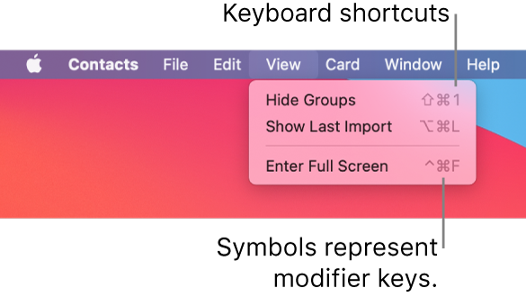 Safari app with File menu keyboard shortcuts pointed out