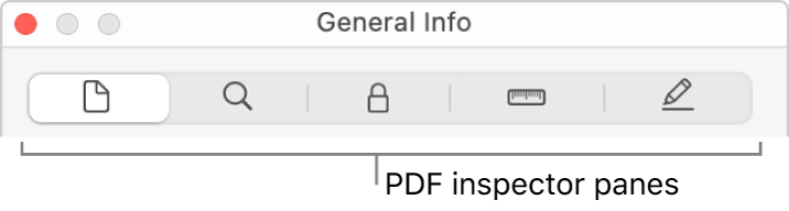 The PDF inspector panes.